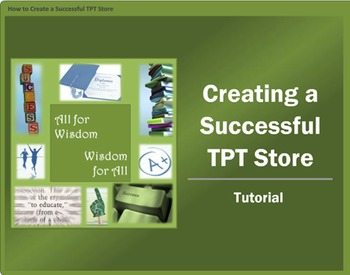 FREE!!  How to Create a Successful TPT Store VIDEO