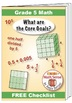 """Grade 5 FREE """"I Can"""" Leaflet of Goals for Common Core Math"""