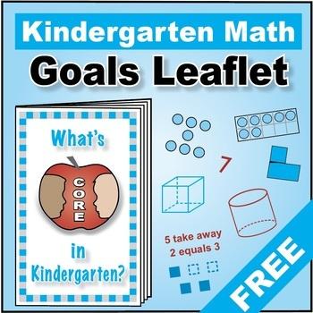 """Grade K Kindergarten FREE """"I Can"""" Leaflet of Goals for Com"""