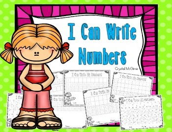 FREE I Can Trace and Write Numbers To 5, 10, 20, 30, 40, 5
