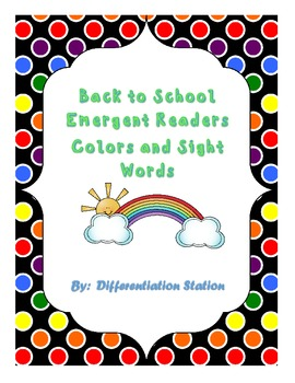 FREE!  I See Colors: Emergent Reader, Sight Words, Colors,