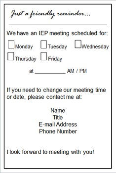 Free iep meeting reminder for parents by dana designs tpt free iep meeting reminder for parents maxwellsz