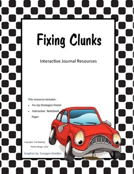 FREE Interactive Journal and Posters for using fix-up stra
