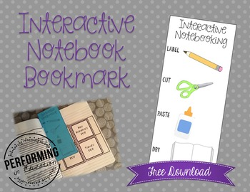 FREE Interactive Notebook Bookmark - Save your page!