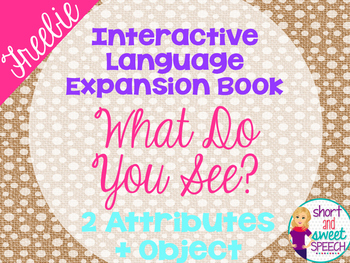 FREE Interactive Vocabulary Expansion: What Do You See? (2