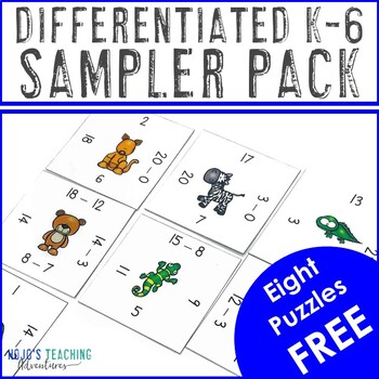 FREE K-6th Grade Differentiated Magic Square Puzzles Sampler by HoJo