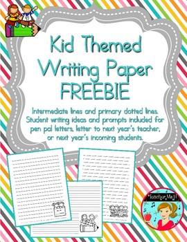FREE Kid Themed Writing Paper