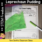 St. Patrick's Day Leprechaun Pudding Science Free