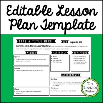 FREE Lesson Plan Template: Revamp yours in time for school!