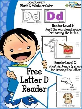FREE Letter D mini reader toddlers preschool Kinder