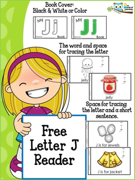FREE Letter J mini reader