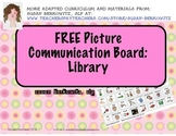 FREE Library Picture Communication Board for AAC Users Aut