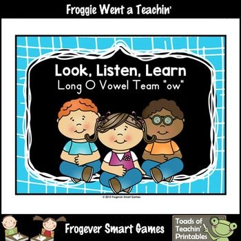 Vowel Team Posters--FREE Look,Listen,Learn 4 More Long O V