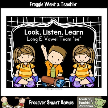 Vowel Team Posters--Look, Listen, Learn Long E Vowel Team /ee/
