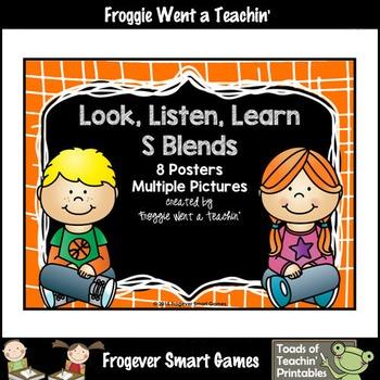 Literacy Teaching Resource--Look, Listen, Learn S Blends Posters