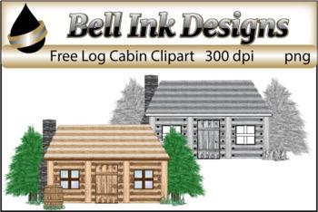FREE Log Cabin Clipart