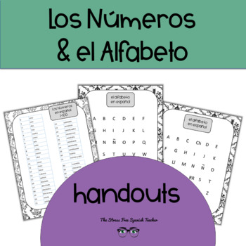 FREE Spanish Numbers and Alphabet Handouts Los Numeros y E