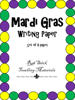 Mardi Gras Writing Paper