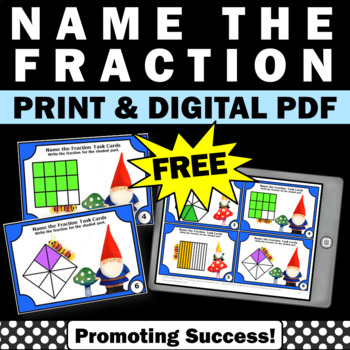 free 3rd grade fractions task cards games activities pictures pictorial