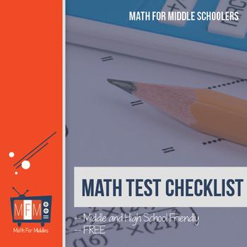 FREE Math Problem Checklist