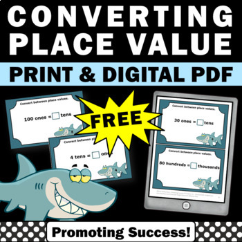 free converting place value games 4th 5th grade activities