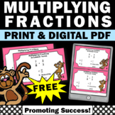 FREE Multiplying Fractions Task Cards 5th Grade Math Cente