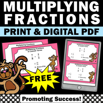 free multiplying fractions games activities 5th grade