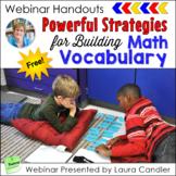 FREE Math Vocabulary Building Webinar Handouts