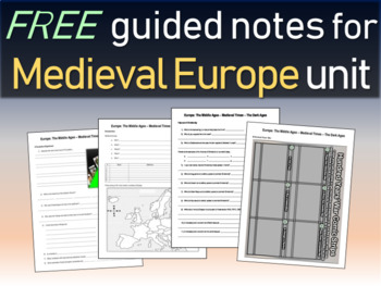 FREE! Medieval Europe Unit (Middle Ages/Dark Ages) Structu