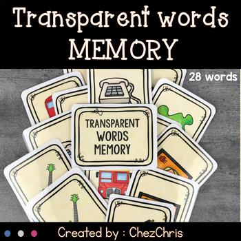 Memory Game: les mots transparents / Transparent words