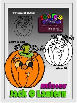 FREEBIE Mister Jack-O-Lantern Clipart (Embellish Yourself