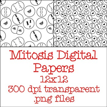 FREE Mitosis Digital Paper: Large and Small Mitotic Cells