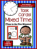 FREE Telling Time to the Five Minutes Task Cards