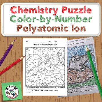Chemistry Puzzle: Color by Ion Charge