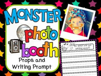 FREE Monster Writing and Photo Booth Props