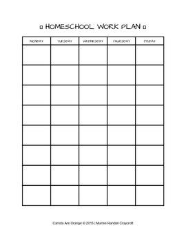 Montessori Pre-K & Kindergarten Weekly Work Plan