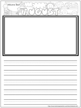 FREE! Monthly Writing Journal August & September Pages Pri