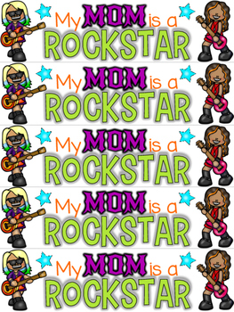 FREE Mother's Day Bookmark - My Mom is a ROCKSTAR!
