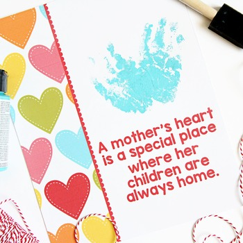 Mother's Day FREE Hand Print Gift