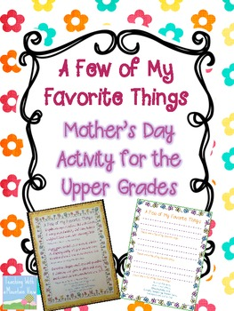 FREE Mother's Day Activity for the Upper Grades {A Few of