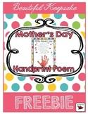 Mother's Day Poem {Handprint} FREE