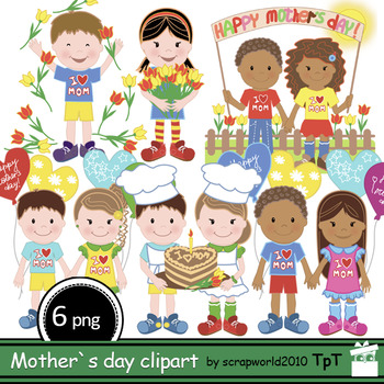 FREE Mother`s Day clipart 6 files,ok commercial use