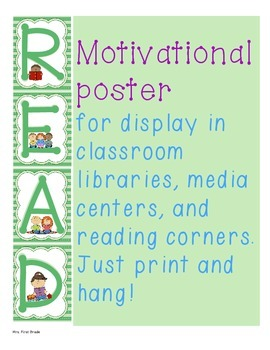 """FREE Motivational Poster """"READ"""""""