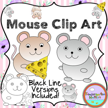 Mouse & Cheese Clip Art Images with Transparent Background