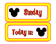 FREE Mouse Days of the Week with yellow border