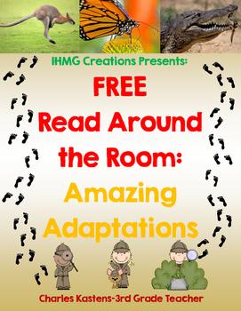 FREE Read Around the Room: Amazing Adaptations-Common Core