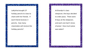 FREE Multiplication/Division Task Cards