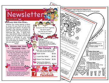FREE NEWSLETTER February Ideas & Printables