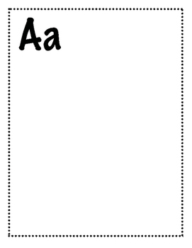 FREE - NO PREP WRITING PAGES FOR CLASS ABC BOOK - NO LINES