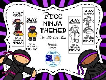 FREE Ninja Bookmarks